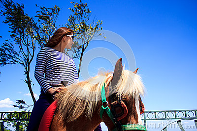 Riding horse at tagaytay