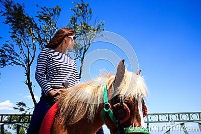 Riding horse at tagaytay