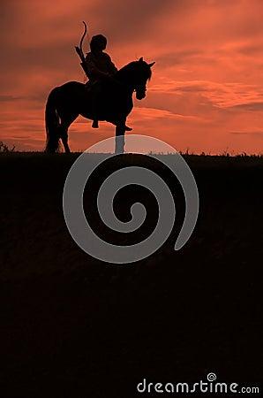 Free Riding Horseman Royalty Free Stock Image - 6518466