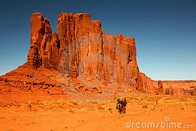 Riding Horses as Recreation in Monument Valley Ari