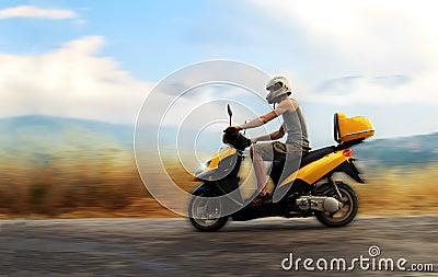 Riding motorbike