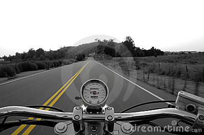 Riding a straight road