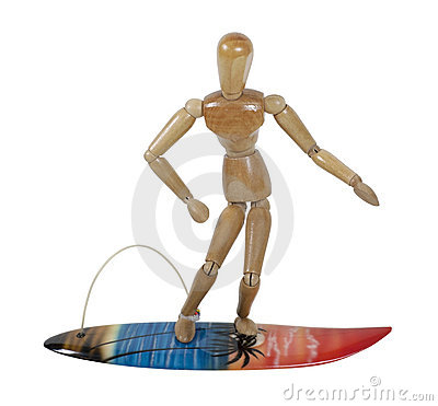 Riding a Surfboard