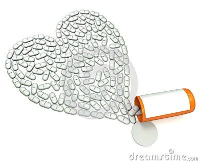 Ridurre in pani per cuore