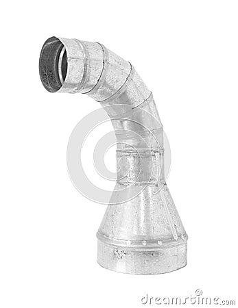 Riduttore del gomito della presa d 39 aria isolato su fondo bianco fotografia stock immagine - Presa d aria cucina ...