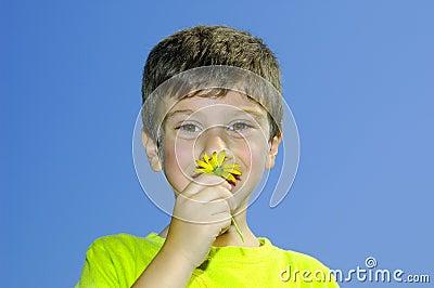 Riechen Sie die Blumen