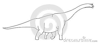 Riesiger Dinosaurier Schwarzweiss