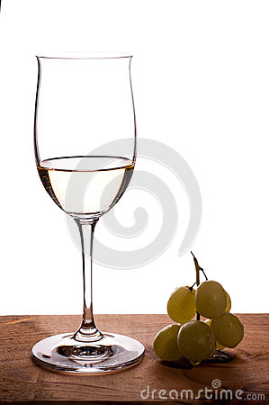 Riesling white wine in a wineglass