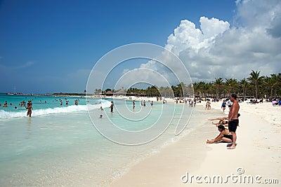 Rieviera Maya beach and ocean Editorial Stock Image
