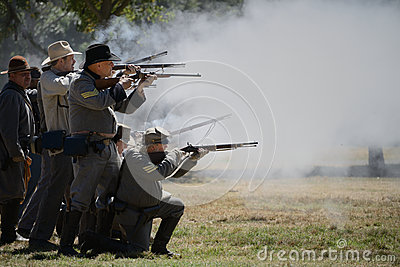 Rifle Firing Editorial Stock Photo