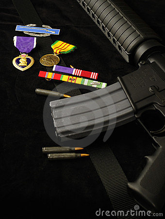 Rifle and Medals