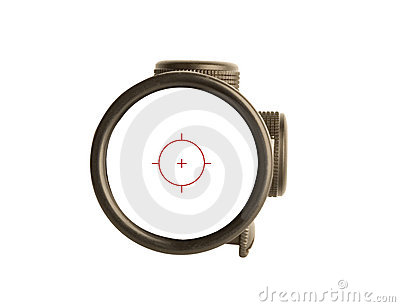 Rifle scope bullseye