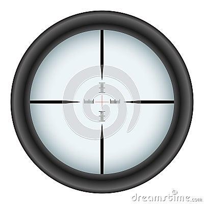 Rifle scope crosshair
