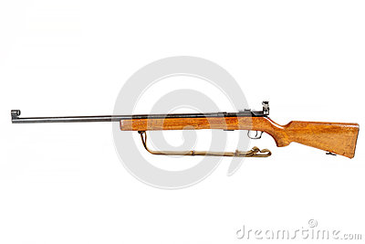 Rifle viejo de la acción del perno aislado