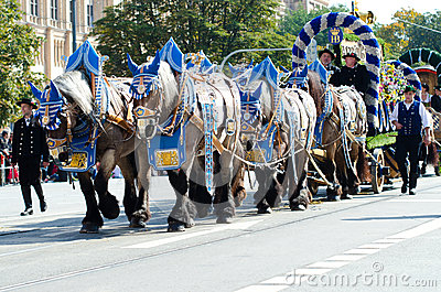 Riflemen s Parade at the Oktoberfest in Munich Editorial Stock Image