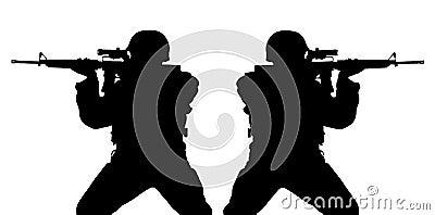 Riflemens silhouettes