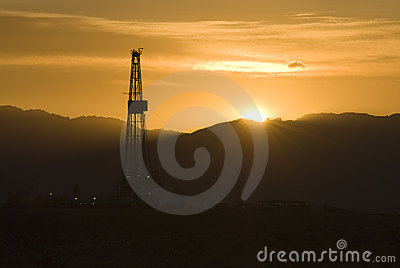 Rig at sunrise