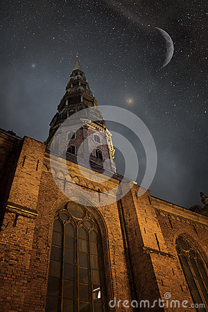 Free Riga At Night. Stock Photography - 40353882