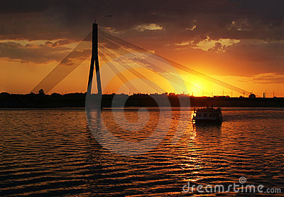 Riga Cable bridge