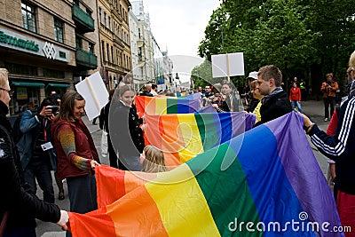 Riga gay pride Editorial Photography