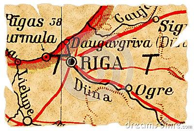 Riga, Latvia old map