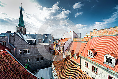 Riga Old Town rooftops