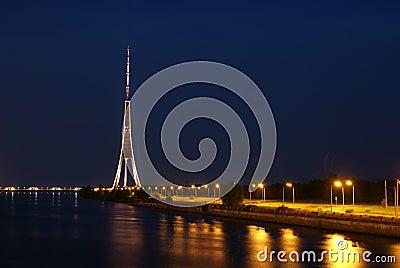 Riga TV tower.