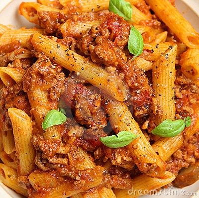 Rigatoni Pasta with Bolognese Sauce