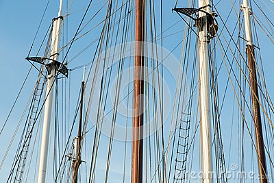 Rigging of a big sailing ship