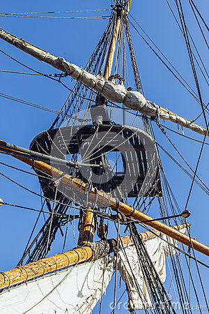 Free Rigging Of A Tall Ship. Stock Image - 37461811