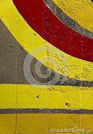 Righe Colorate Su Una Parete Fotografia Stock - Immagine: 20760402