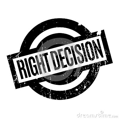 Free Right Decision Rubber Stamp Royalty Free Stock Image - 89203916
