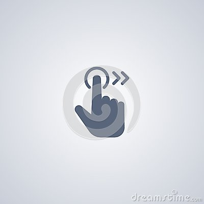 Free Right Gesture , Vector Best Flat Icon Royalty Free Stock Image - 116903046