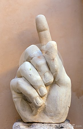 Free Right Hand Of Colossal Statue Representing Roman Emperor Constantine The Great Stock Image - 100891321