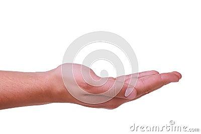 Right man s hand