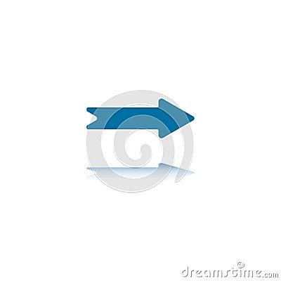 Right Straight Arrow