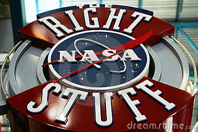 Right Stuff Editorial Stock Image