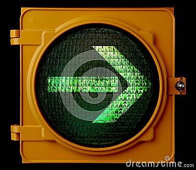 Right turn traffic light arrow