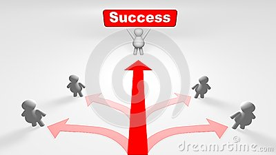 The Right Way Of Success Stock Photo - Image: 25892710
