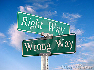 The Right Way or Wrong Way