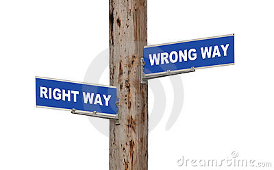 Right Way & Wrong Way