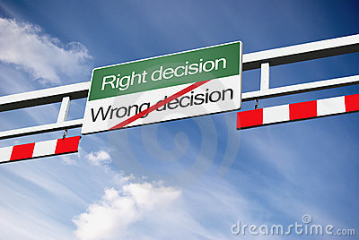 Right wrong decision in way