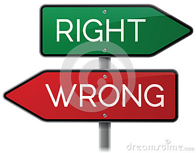 Right or Wrong Signs