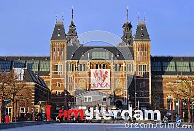 Rijksmuseum, Amsterdão Foto de Stock Editorial