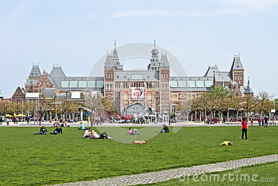 Rijksmuseum in Amsterdam the Netherlands Editorial Stock Image
