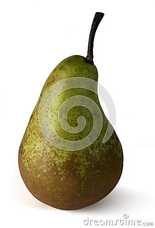 Rijpe peer met weg