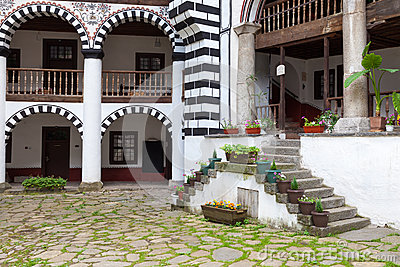 Rila Monastery Building Editorial Stock Image