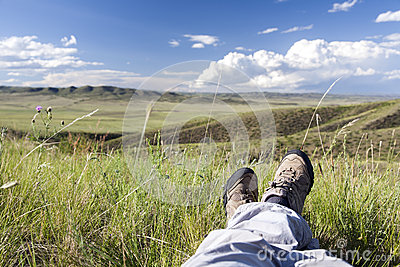 Rilassandosi in natura