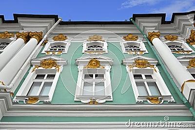 Rilievo decorativo del palazzo di inverno, St Petersburg