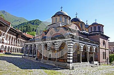 Rilski monastery Stock Photo